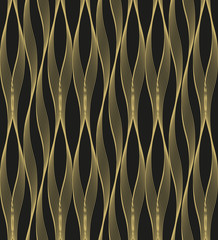 Abstract geometric pattern with wavy lines, stripes. A seamless