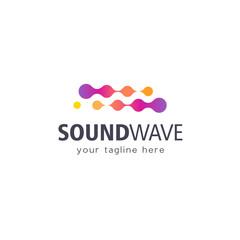 Vector logo design template. High technology. Sound Wave