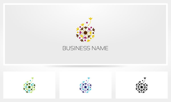 Dandelion Flourish Logo