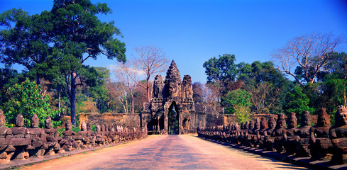 Angkor Thom South Gate.