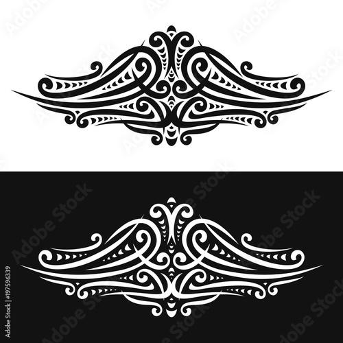 Vector Elegant Design Elements On Black And White Background Ornate