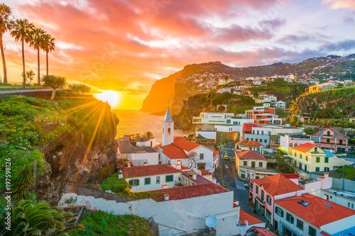 Wall mural Câmara de Lobos at sunset time, Madeira island, Portugal