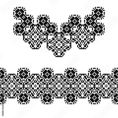 navajo border designs. Modren Navajo Necklace And Border In American Indian Style Embroidery Dotted Schemes  Pixel Navajo Neckline For Navajo Border Designs