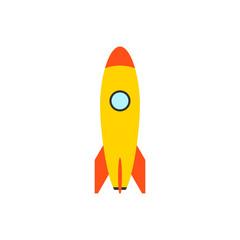 Rocket vector icon. Start Up Concept Symbol Space Roket Ship