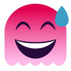 Emoji verlegen - pinker Geist
