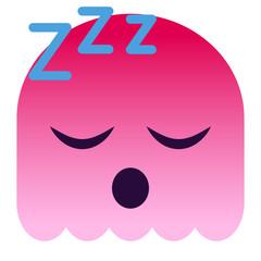 Emoji schlafend - pinker Geist