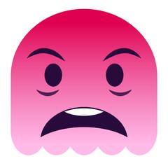 Emoji geschockt - pinker Geist
