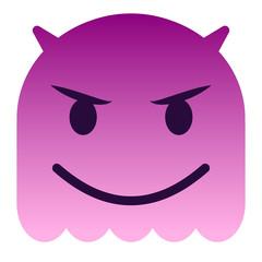 Teufel Emoticon - pinker Geist