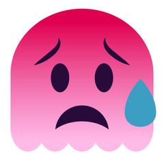 Emoji traurig - pinker Geist
