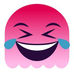 Emoji Tränen lachend - pinker Geist
