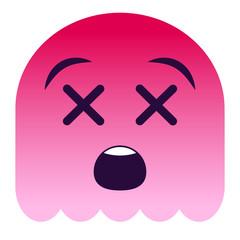 Emoji tot - pinker Geist