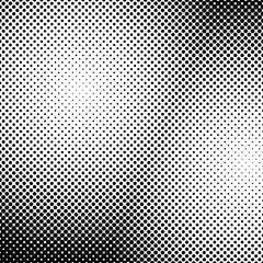 Geometric monochrome halftone dot pattern background - vector graphic from circles