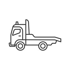 Tow truck linear icon
