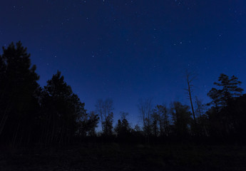 Sky with stars in North Carolina