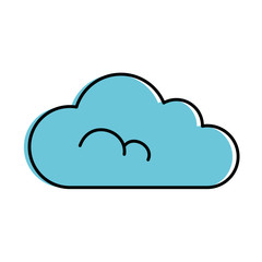 cloud weather isolated icon vector illustration design