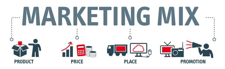 Banner marketing mix concept