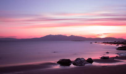 Sunset on Arran