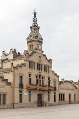 Arquitecture, modernist building, City Hall, Ajuntament, Les Franqueses del Valles, province Barcelona,Catalonia.