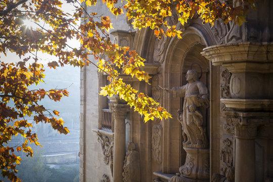 Facade Church, baroque style,Cave of Saint Ignatius,Manresa,province Barcelona,Catalonia.