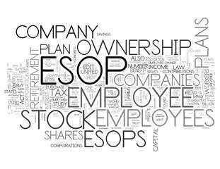 ESOP - Employee Stock Ownership Plan - Concept