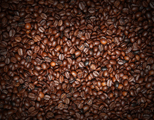 Coffee beans used as background
