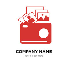 photo gallery company logo design template, Business corporate vector icon