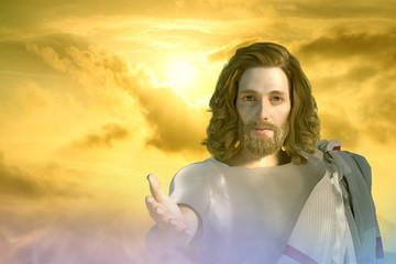 3D Illustration of a portrait of Jesus Christ