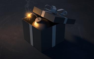 Geschenk mit Bombe