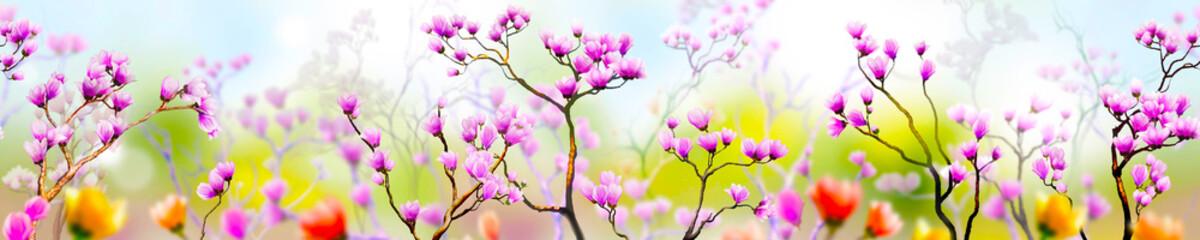 Türaufkleber Blumen Panoramik Çiçek Manzarası