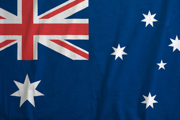 Flag of Australia, with fabric texture.
