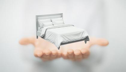 Mani con letto, riposo o insonnia
