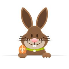 Single Easter Bunny Egg Horizontal Banner Green