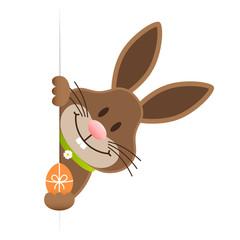 Single Easter Bunny Egg Banner Green