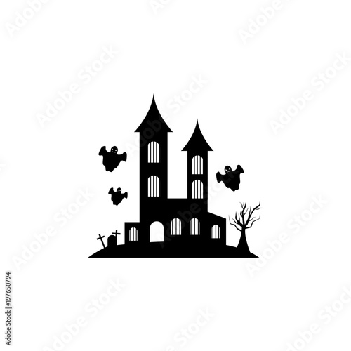 House With The Ghosts Icon Element Of Scarecrow Icon Premium