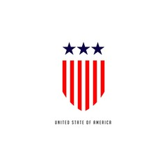 United Stated of America Vector Template Design