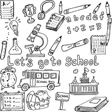 let's go to school, doodle
