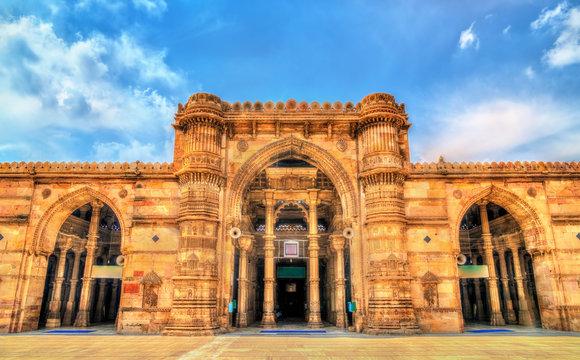 Jama Mosque, the most splendid mosque of Ahmedabad - Gujarat, India