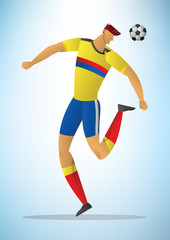 Illustration of football player 31