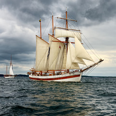 Sailing ship. Yachting. Sailing