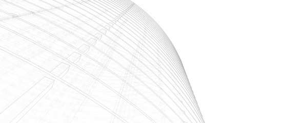 abstract architecture 3d structure