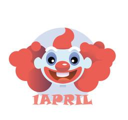 clown flat icon cartoon head