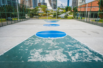 basketball court, soccer field - outdoor sport in city