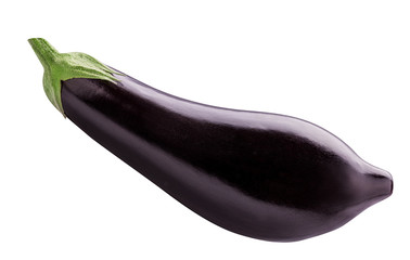 Fresh eggplant is isolated on a white background