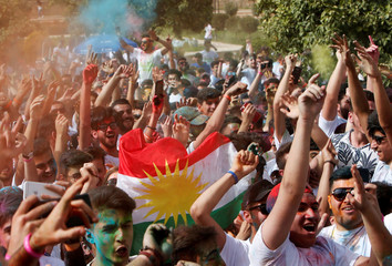 Kurdish youth celebrate the Color Day in Erbil
