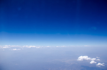 Sea of clouds with blue sky