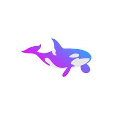 ocean whale color logo