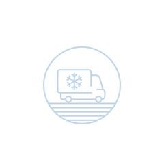 Fridge truck icon