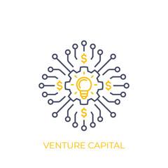 venture capital vector line art
