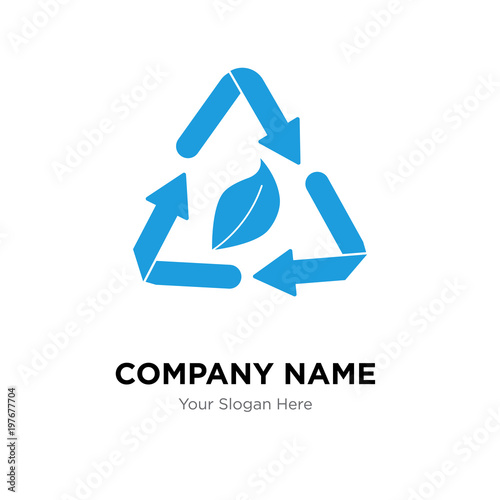 waste management company logo design template, Business