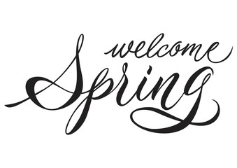Welcome Spring Lettering